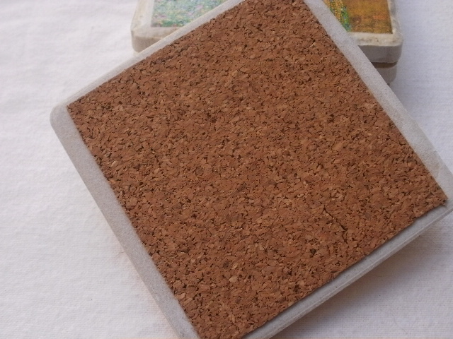 Twelve Weeks Of Christmas Week DIY Tile Coaster Tutorial The - Cork coaster bottoms