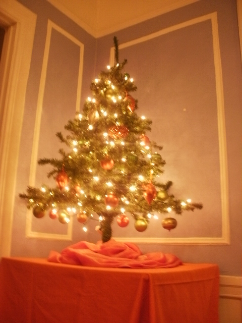 orange and green christmas tree