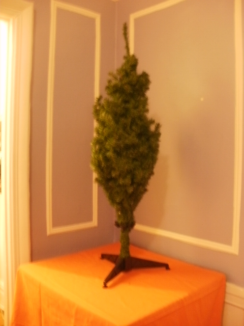 Christmas tree out of box