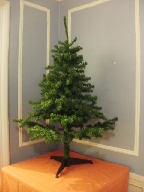 naked christmas tree