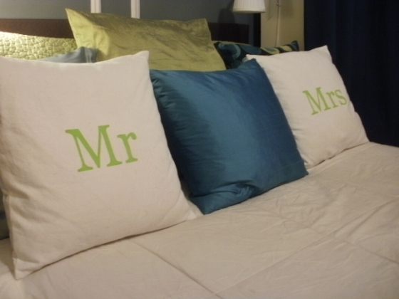 Mr. and Mrs. pillows