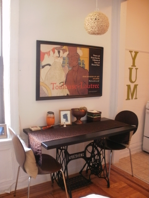 Singer sewing machine dining table