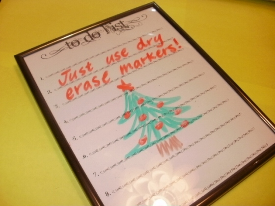 diy dry erase board to do list