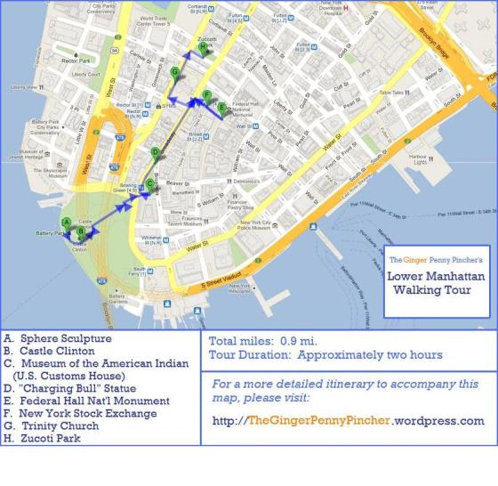 lower manhattan walking tour map