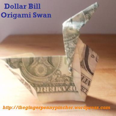 dollar bill origami swan