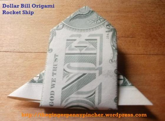 dollar bill rocket ship origami