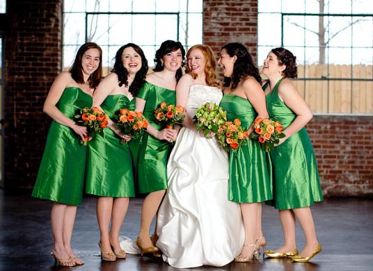leaf green bridesmaids dress - The Ginger Penny Pincher