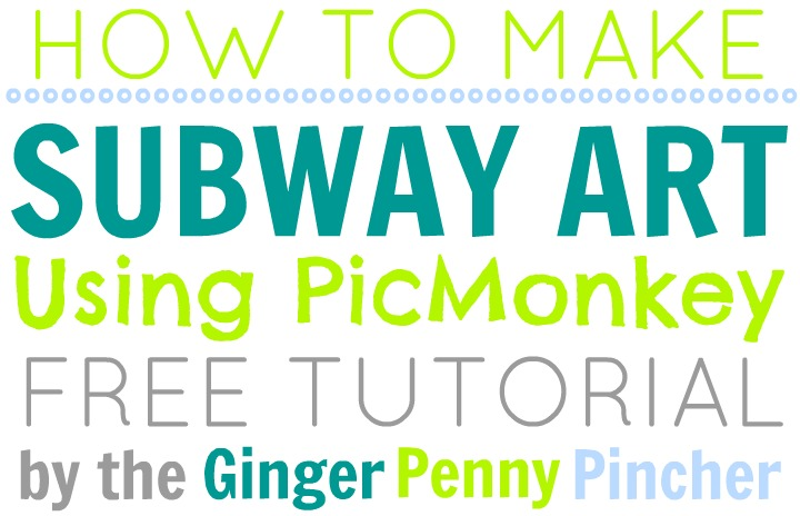 Diy subway art tutorial the ginger penny pincher for Subway art template
